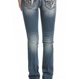 ROCK REVIVAL PAOLINA J203 STRAIGHT JEANS
