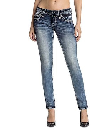 ROCK REVIVAL NORAH WOMENS DENIM SKINNY JEANS, S200