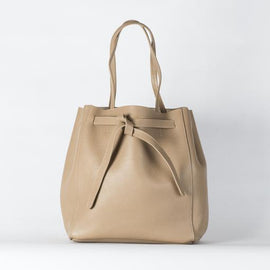 VESTIRSI ITALY LEATHER TOTE BAG, PHOEBE, BLACK OR BEIGE