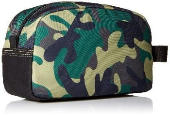TIMBERLAND CANVAS TRAVEL / TOILETRY BAG, CAMO OLIVE