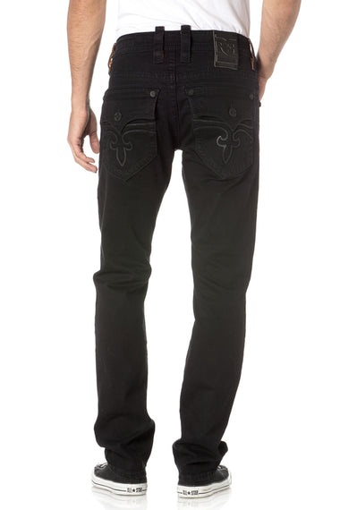 ROCK REVIVAL STEVEN A208 ALT STRAIGHT JEANS BLACK