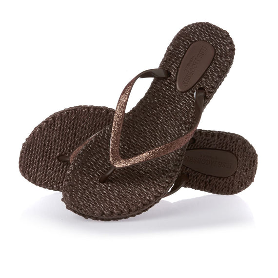ISLE JACOBSEN FLIP FLOP THONGS, PRUNE