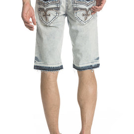 ROCK REVIVAL RAND MENS DISTRESSED POCKET SHORTS