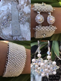 BBE SWAROVSKI PEARLS BRACELET & EARRINGS SET