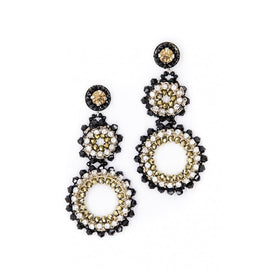 BELLA CIRCLE DROP BEADED EARRING