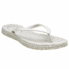 ISLE JACOBSEN FLIP FLOP THONGS CHEERFUL, CREME