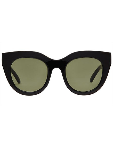LE SPECS SUNGLASSES, AIR HEART, BLACK GOLD, KHAKI MONO