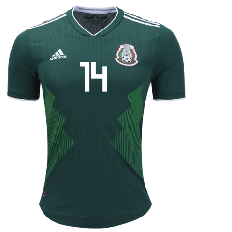 Chicharito Mexico National Team Authentic 2018 Home Jersey - Soccer Edge d1b08b88d