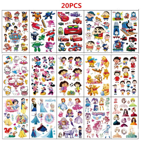 Kids Temporary Tattoos (20 pcs)