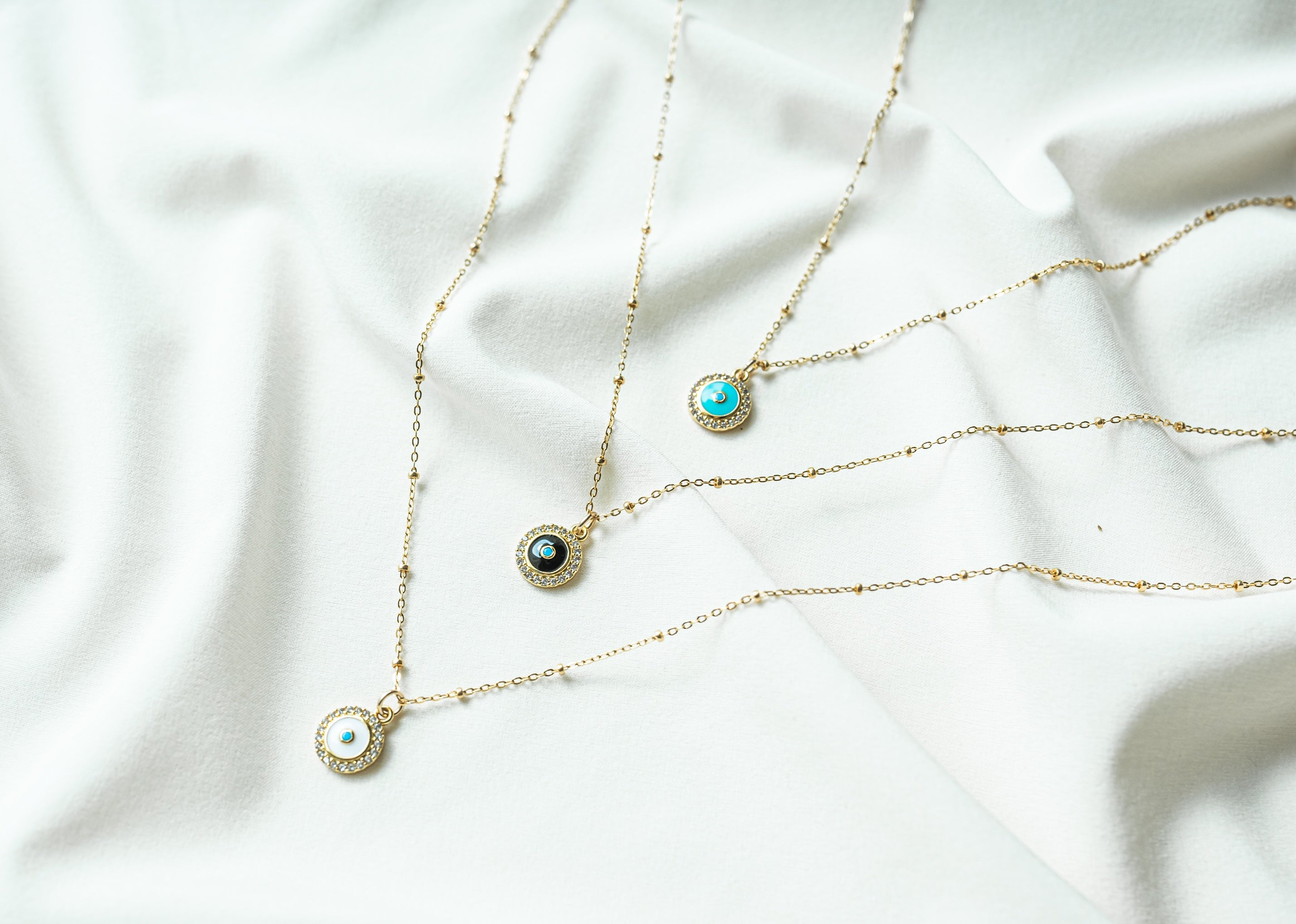 Enamel Evil Eye Necklace