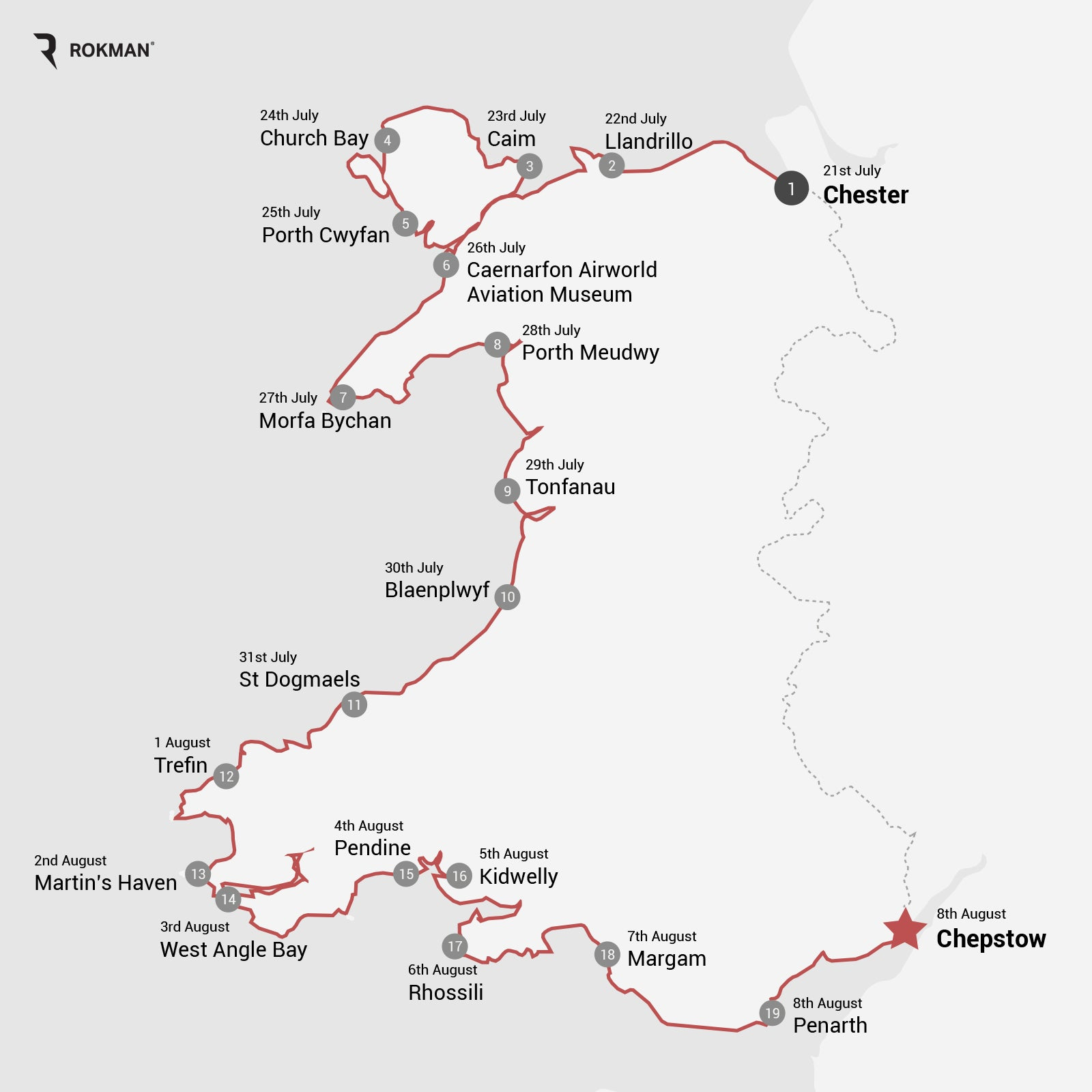 Wales Coast Path map