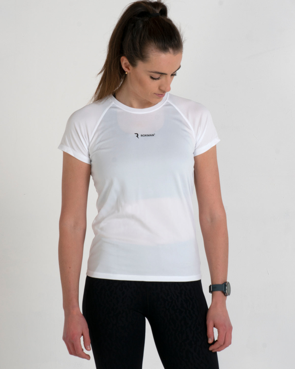 Rokman Ident Active-Dry Arctic White Female T-Shirt