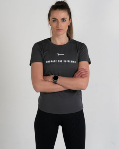 Embrace The Suffering Active-Dry Charcoal Female T-Shirt