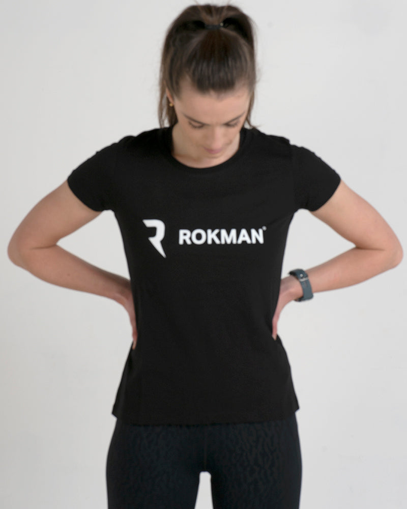 Rokman Ident Light Cotton Tactical Black Female T-Shirt