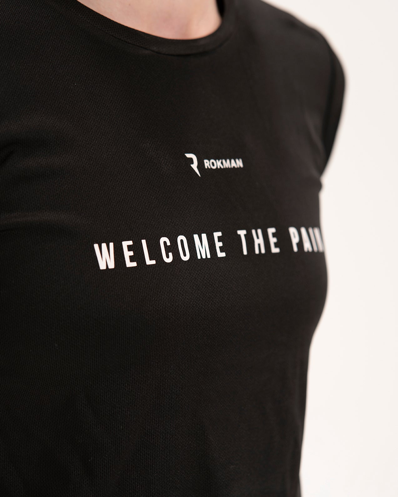 Welcome The Pain Active-Dry Black Female T-Shirt