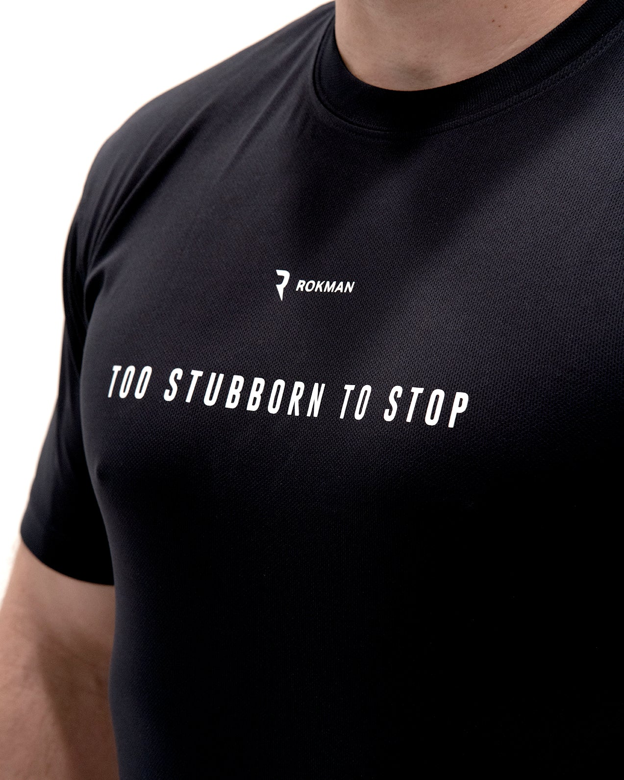 Too Stubborn to Stop Active-Dry Midnight Blue Male T-Shirt