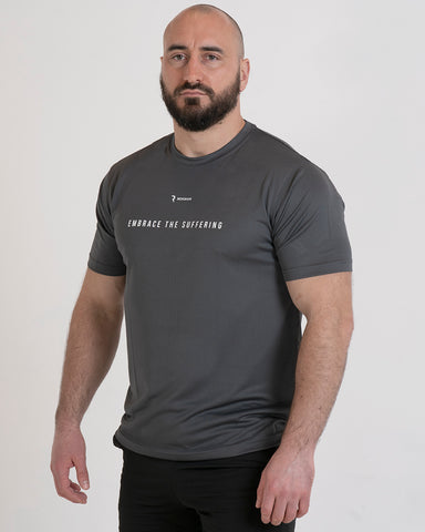 Embrace The Suffering Active-Dry Charcoal Male T-Shirt