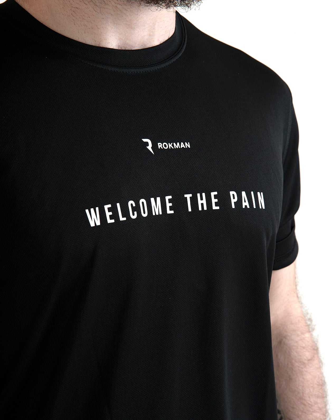Welcome The Pain Active-Dry Black Male T-Shirt