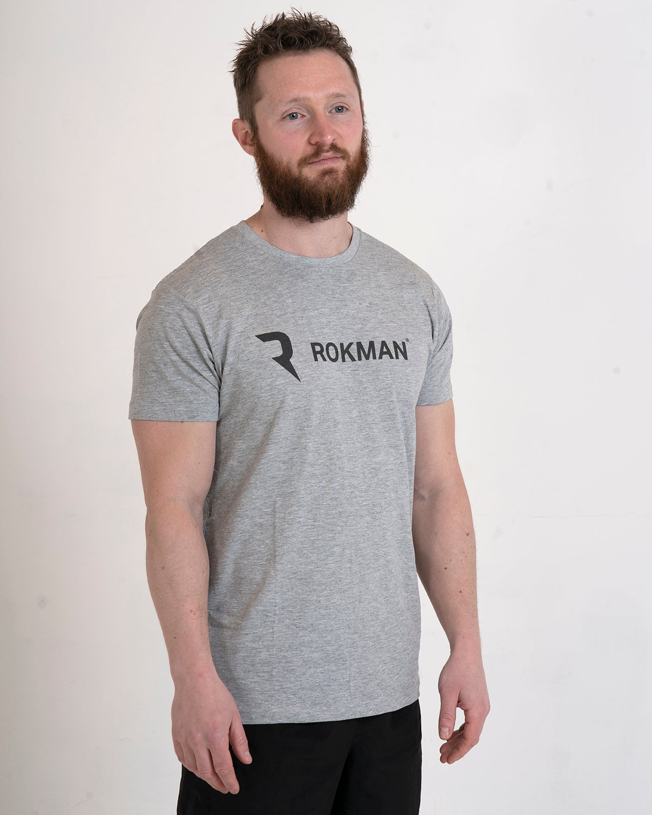 Rokman Ident Light Cotton Sports Grey Male T-Shirt