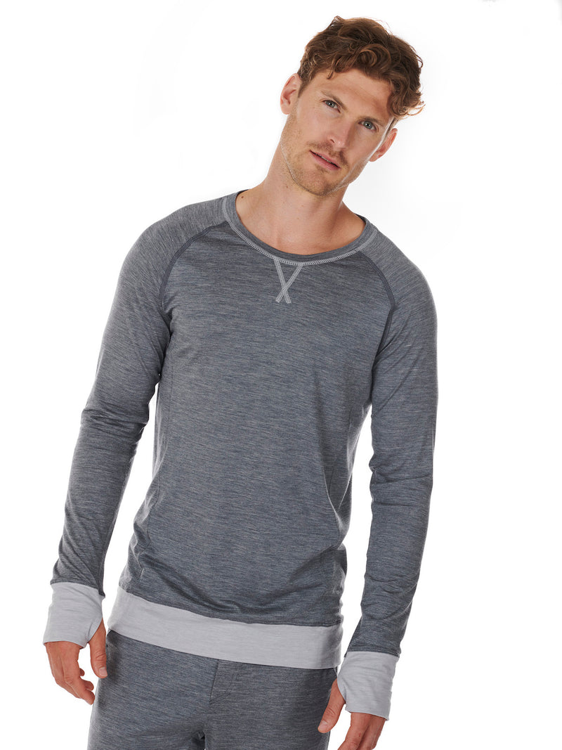 LONG-SLEEVE MEN DAGSMEJAN DARK GREY FRONT