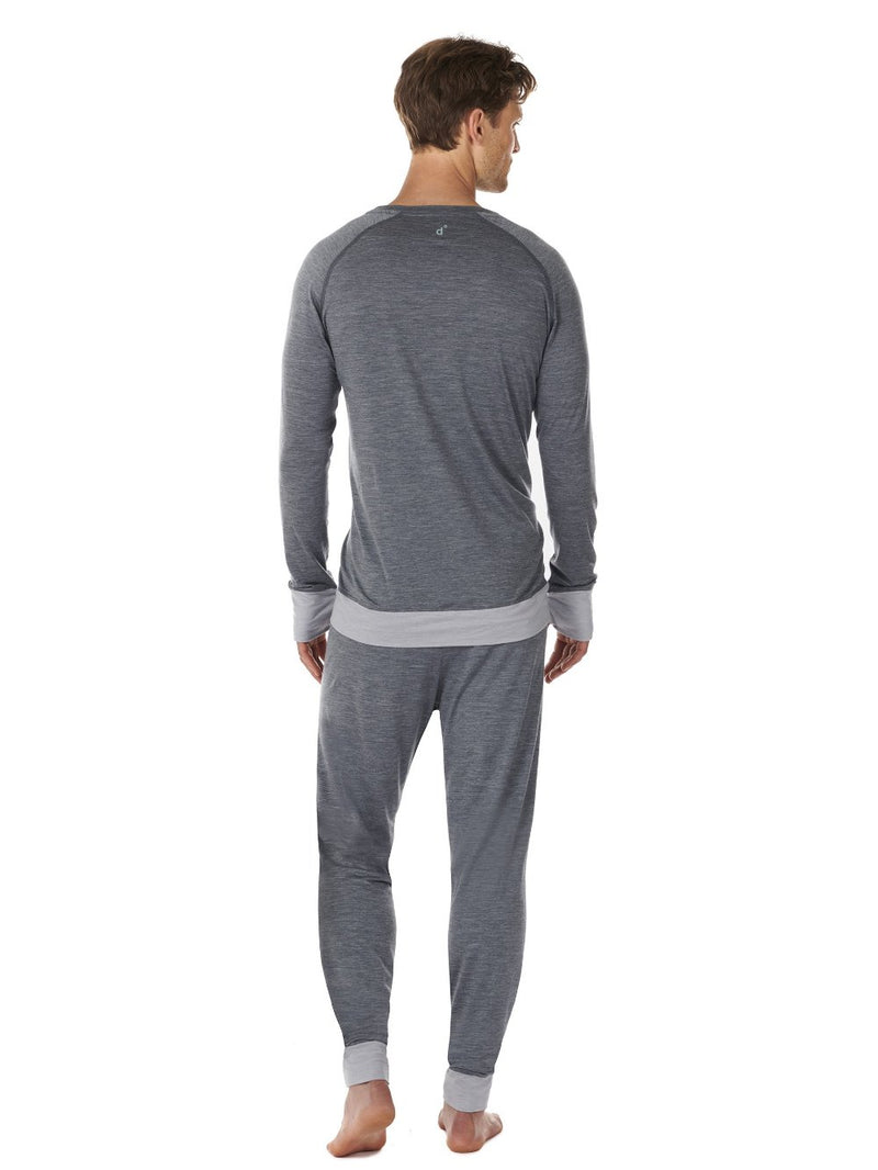LONG-SLEEVE MEN DAGSMEJAN DARK GREY BACK