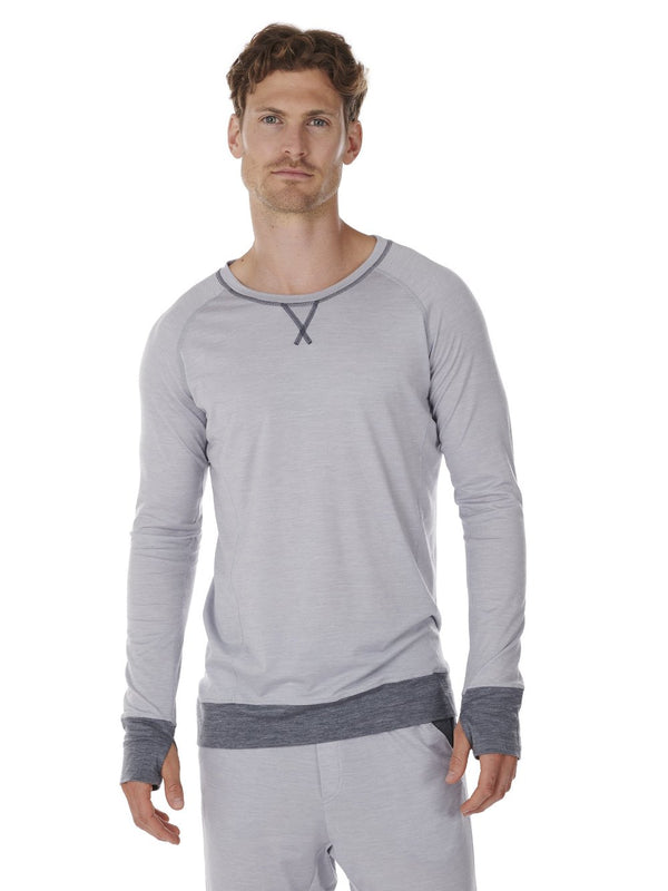 LONG-SLEEVE MEN DAGSMEJAN LIGHT GREY FRONT