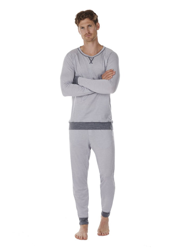 LONG-SLEEVE MEN DAGSMEJAN LIGHT GREY FRONT FULL