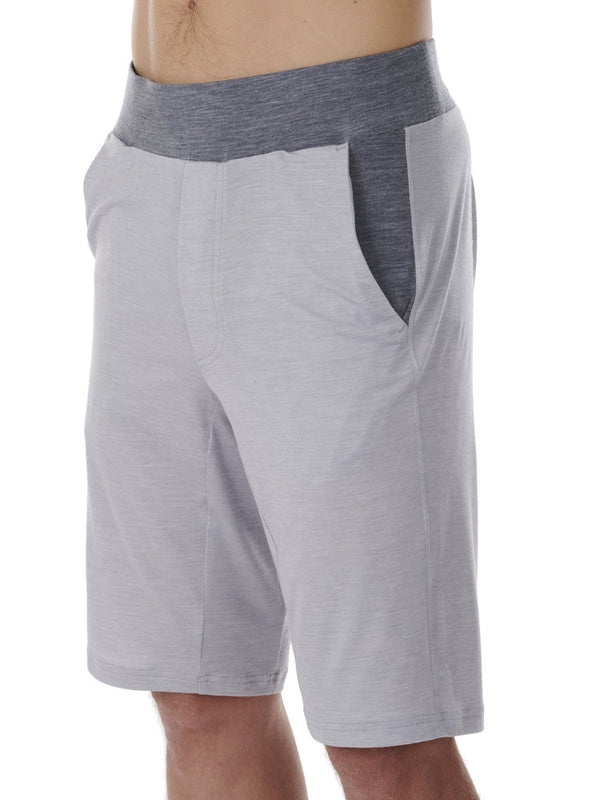 SHORTS MEN DAGSMEJAN LIGHT GREY CLOSE-UP