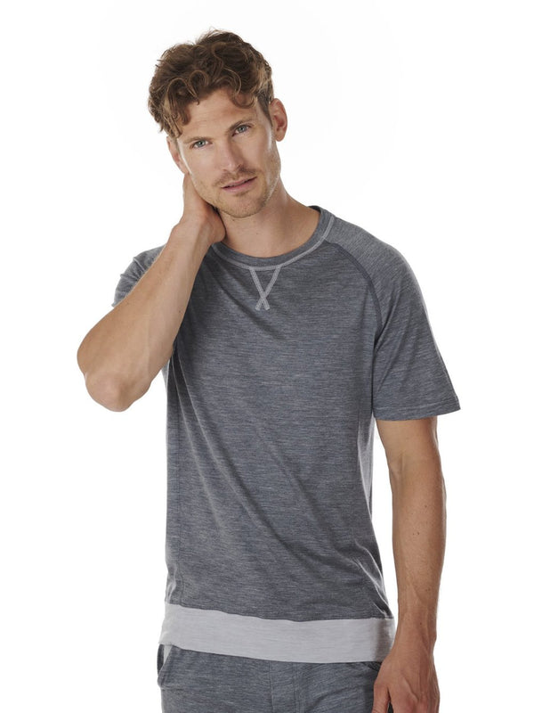 T-SHIRT MEN DAGSMEJAN DARK GREY FRONT