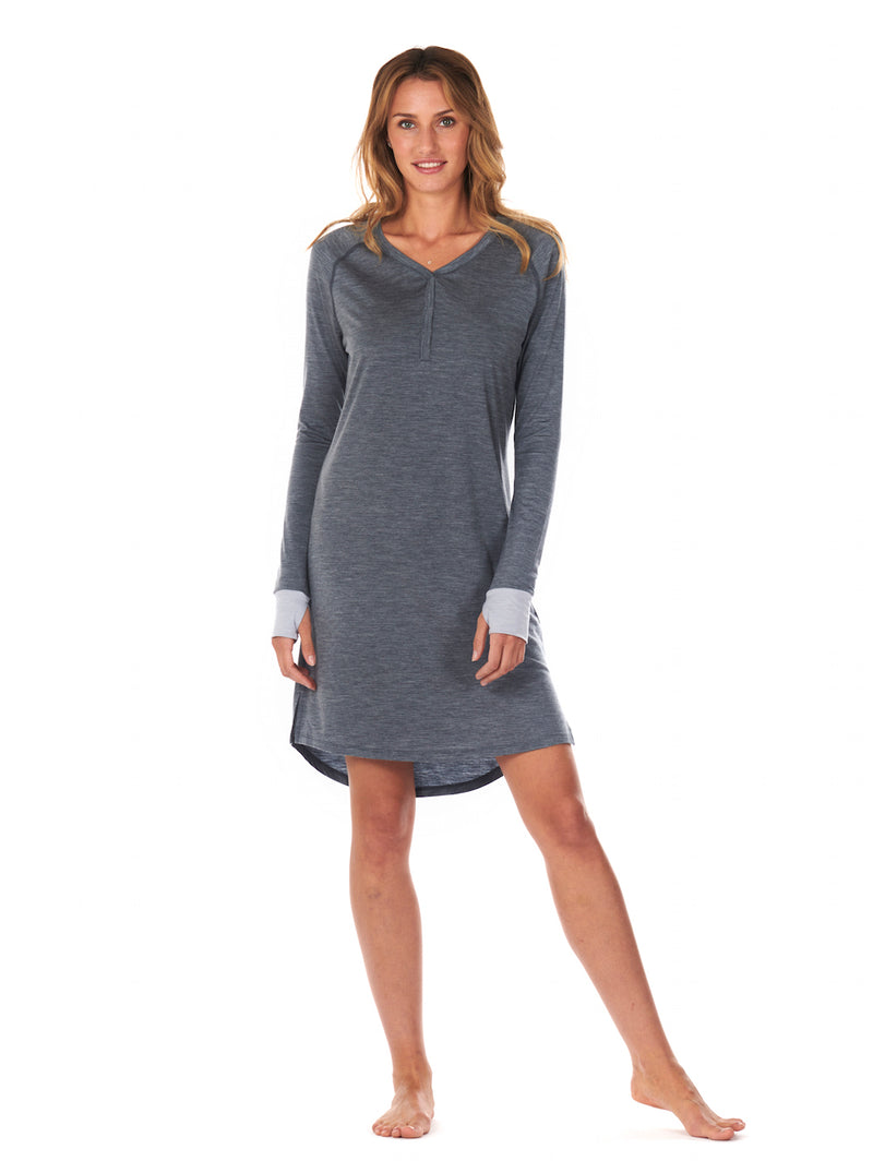 SLEEPDRESS DARK GREY DAGSMEJAN FRONT