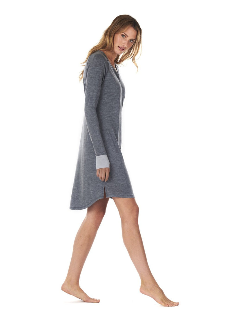 SLEEPDRESS DARK GREY DAGSMEJAN SIDE