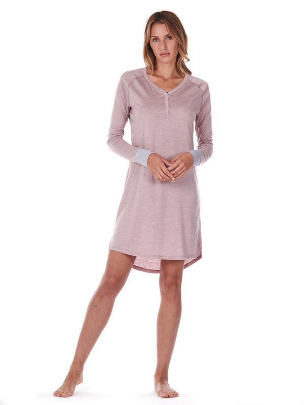 SLEEPDRESS DUSTY PINK DAGSMEJAN FRONT