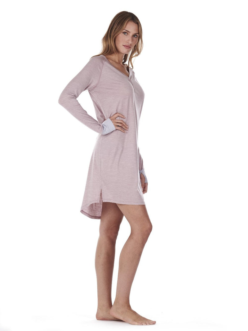 SLEEPDRESS DUSTY PINK DAGSMEJAN SIDE
