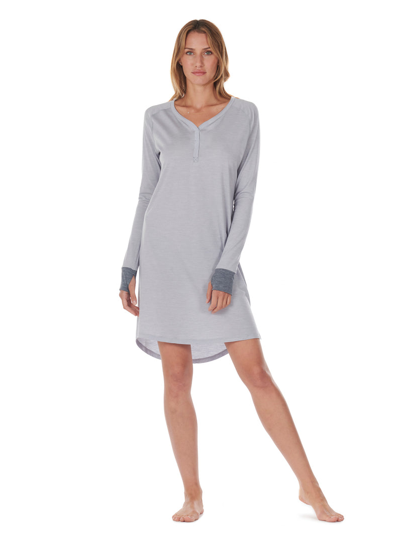SLEEPDRESS LIGHT GREY DAGSMEJAN FRONT