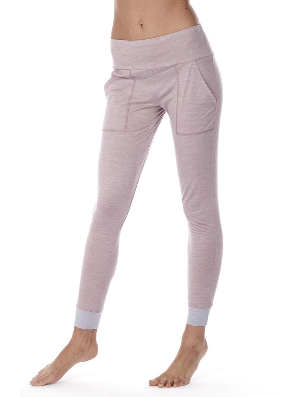 SLEEP PANTS WOMEN DAGSMEJAN DUSTY PINK CLOSE UP