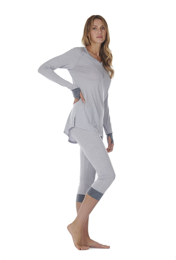 TUNICA WOMEN DAGSMEJAN LIGHT GREY SIDE