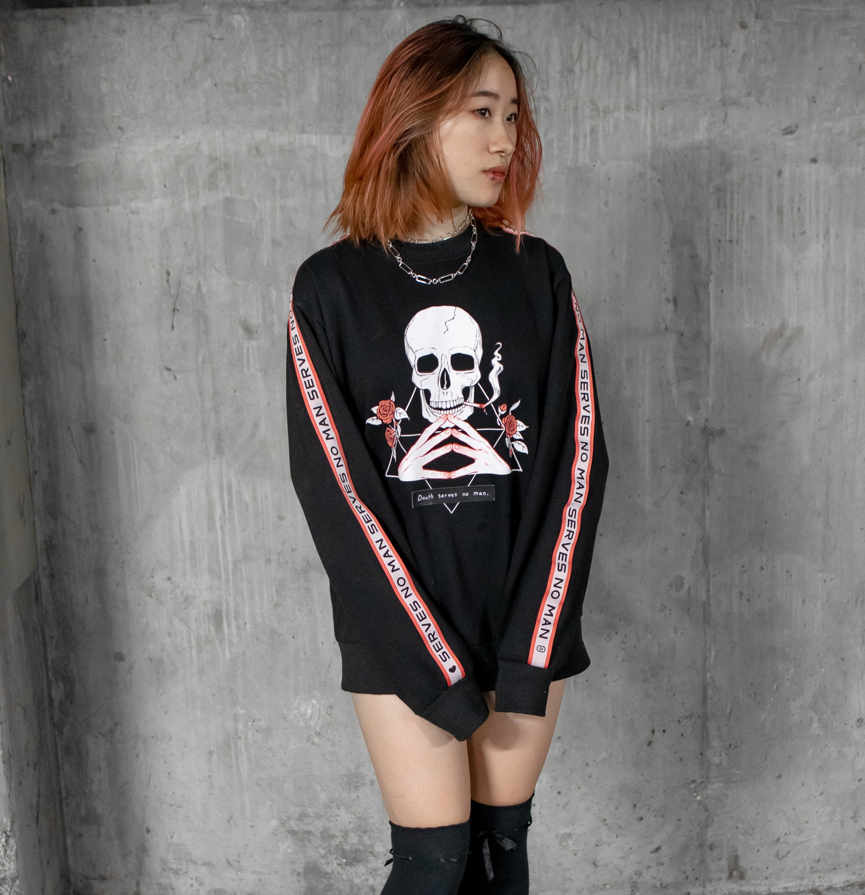 skull sweater product shot
