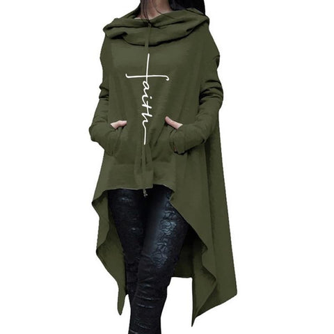 Image of Women's Faith Tail-Coat Hoodie