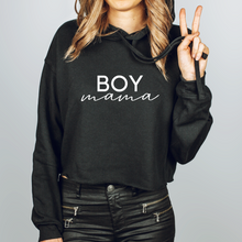 Load image into Gallery viewer, Boy Mama Cropped Hoodie
