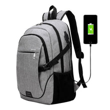 Load image into Gallery viewer, Canvas USB Backpack
