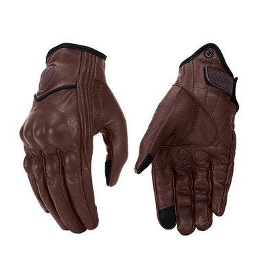 Brown Leather Riding Gloves