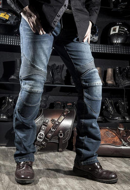 Motorcycle Jeans with Armor Insert Pockets