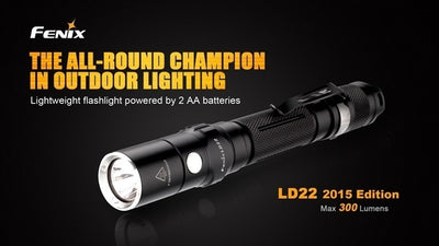 Fenix LD22 2015 Edition 300 Lumen Handheld Tactical Flashlight