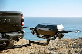 Hitchfire Forge 15 tail gate BBQ with hitch extender