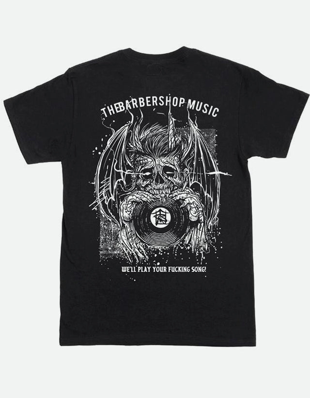 The Barbershop Music - Relaunch, Pocket T-Shirt, Black