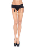 Leg Avenue Classic Sheer Stockings With Opaque Top