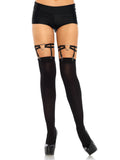 Leg Avenue Dual Strap Elastic Thigh High Heart Garter Suspender