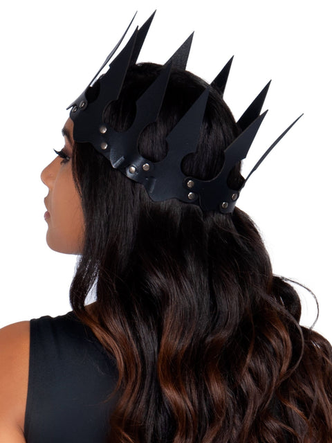 Leg Avenue Faux Leather Spiked Costume Crown