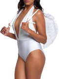Leg Avenue Marabou Trimmed Feather Costume Angel Wings