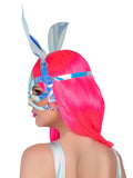 Leg Avenue Holographic Vinyl Bunny Ear Harness Mask